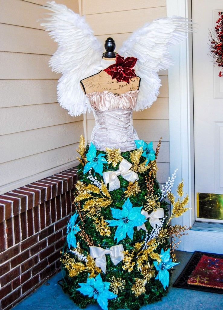 Christmas tree dress form angel DIY tutorial
