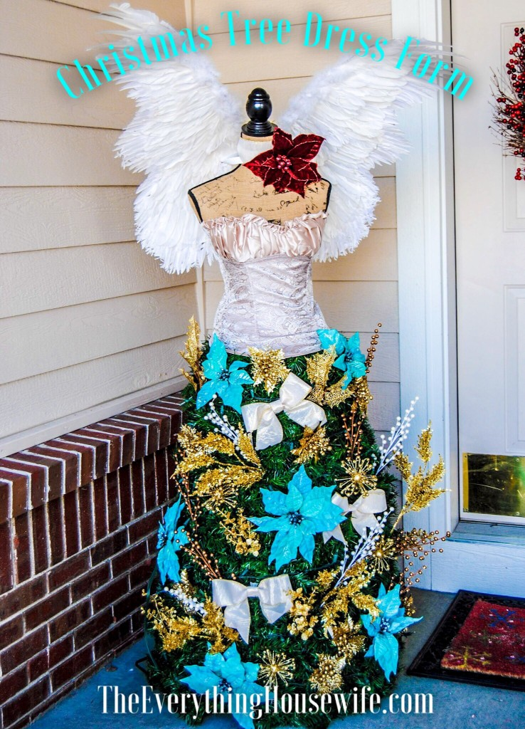 Gorgeous Christmas tree dress form angel DIY, tutorial is included in this blog description