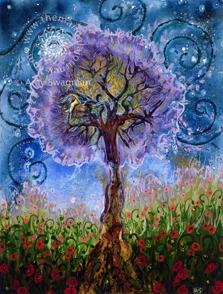 Themandalajourney.com , placenta tree of life print artwork