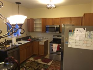 Before IKEA kitchen remodel
