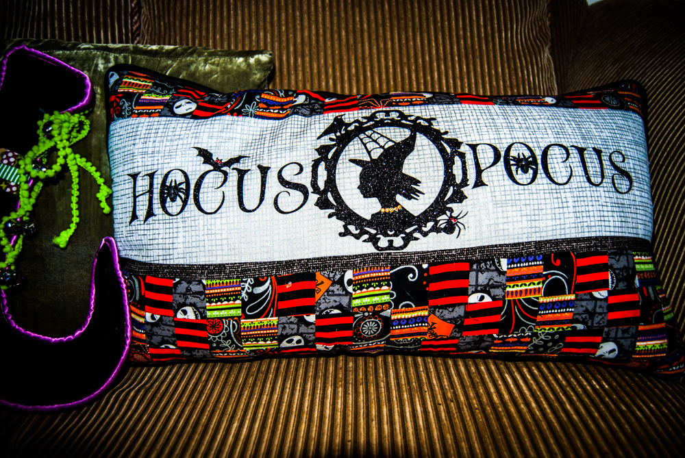 hocus Pocus quilted halloween pillow