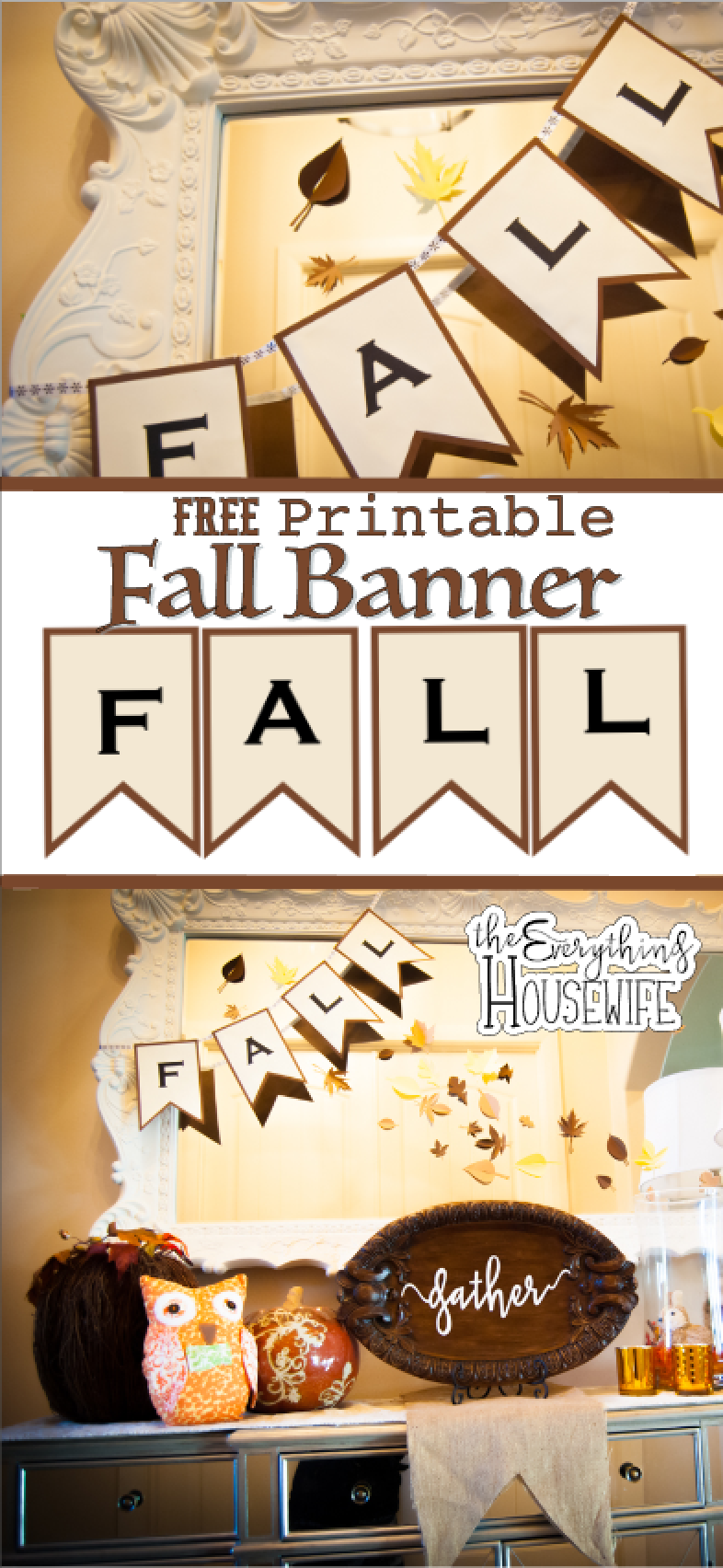 Fall Banner and Thanksgiving DecorFree