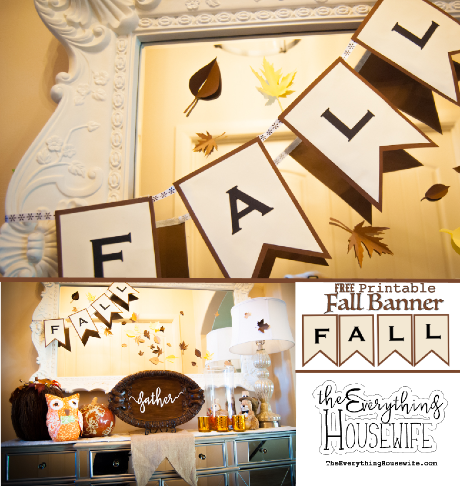 photo relating to Thanksgiving Printable Decorations known as Slide Banner and Thanksgiving Decor-Cost-free Printable Variation