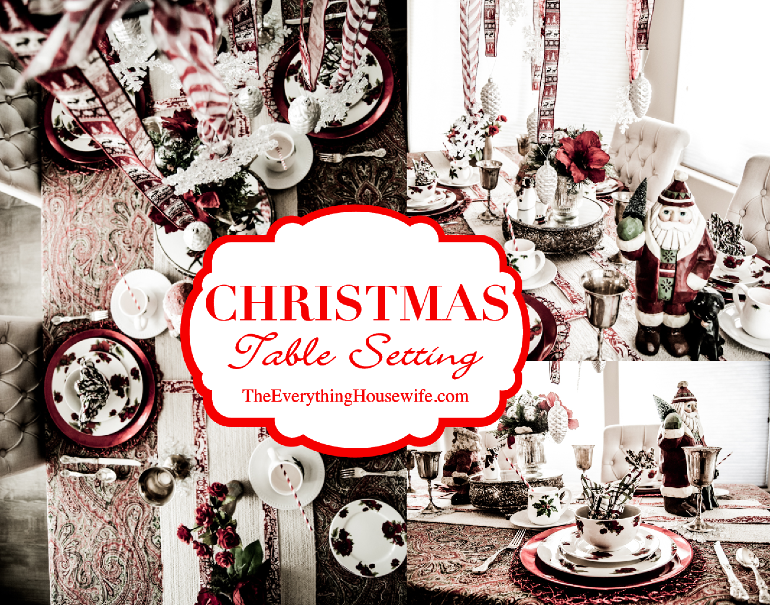 Christmas Table Setting Idea - The Everything Housewife.com