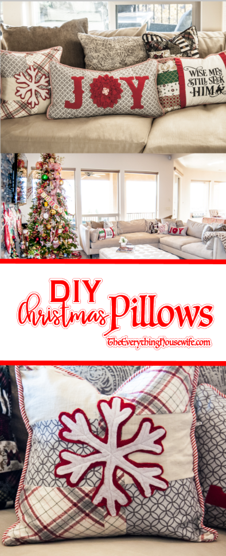 Diy Decorative Christmas Pillows : Christmas Pillows, DIY - The Everything Housewife.com
