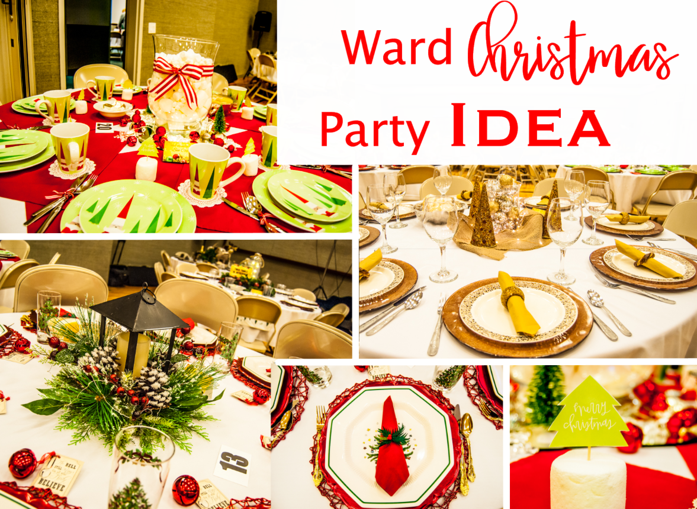 Ward Christmas Party Ideas Part - 36: Ward Christmas Party-Table Settings