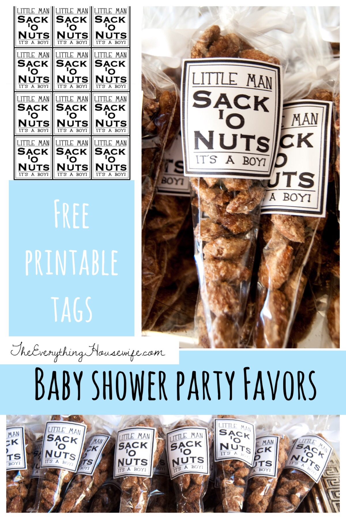 Boy Baby Shower Party Favor The Everything Housewife